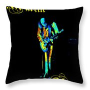Jt #67 In Cosmicolors With Text Throw Pillow