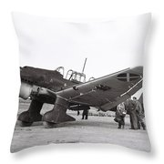 Junkers Ju87b Legion Condor Throw Pillow