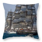 Juan Sebastian Elcano And Stad Amsterdam Throw Pillow