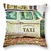 Juarez Taxi Throw Pillow