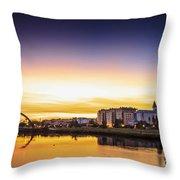 Jubia River Naron Galicia Spain Throw Pillow