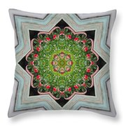 Jubilant Mandevilla Kaleidoscope Pattern Throw Pillow