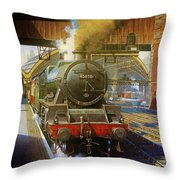 Jubilee 4.6.0 At Liverpool Lime Street. Throw Pillow by Mike  Jeffries