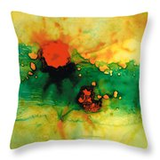 Jubilee - Abstract Art By Sharon Cummings Throw Pillow