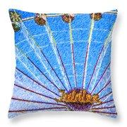 Jubilee Ferris Wheel Throw Pillow