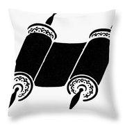 Judaism Torah Throw Pillow