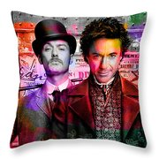 Jude Law And Robert Downey Jr Throw Pillow