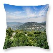 Judean Foothills Landscape Throw Pillow