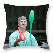 Juggling Throw Pillow by Dwight Cook