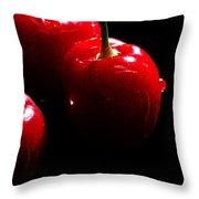 Juicy Cherries Throw Pillow