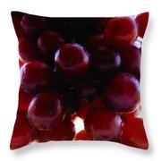 Juicy Grapes Throw Pillow
