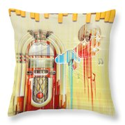 Juke Box Throw Pillow