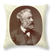Jules Verne (1828-1905) Throw Pillow