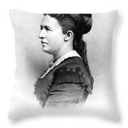 Julia Dent Grant (1826-1902) Throw Pillow
