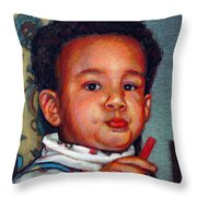 Julian Throw Pillow by Kenneth Cobb