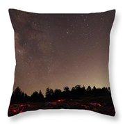 Julian Night Sky Milky Way Throw Pillow
