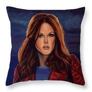 Julianne Moore Throw Pillow by Paul Meijering