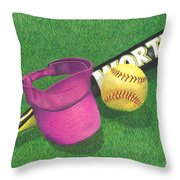 Julia's Game Throw Pillow by Troy Levesque