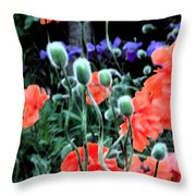 Julia's Garden II Throw Pillow