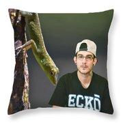 Julien In The Jungle Throw Pillow