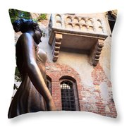 Juliet's Balcony In Verona Italy Throw Pillow
