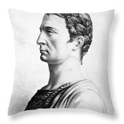 Julius Caesar (100-44 B Throw Pillow