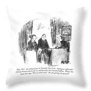 July, 1967.  An Antiques Fair In Peekskill, New Throw Pillow