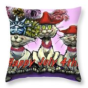 July 4th Throw Pillow by Kevin Middleton