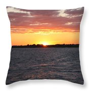 July 4th Sunset Throw Pillow