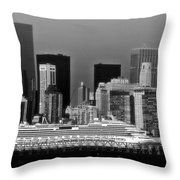 July 7 2014 - Carnival Splendor At New York City - Image 1674-02 Throw Pillow
