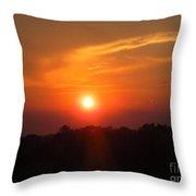 July Sunset Throw Pillow