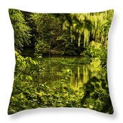 July Tranquil Indian Lake Throw Pillow