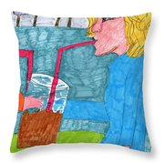 Jumbo Drink Contest Throw Pillow