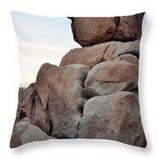 Jumbo Rock Joshua Tree Throw Pillow