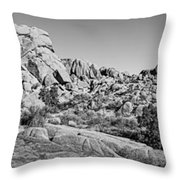 Jumbo Rocks Bw Throw Pillow