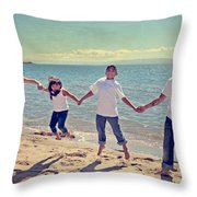 Jump For Joy Throw Pillow by Laurie Search