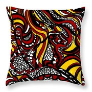 Jump Into My Fire Throw Pillow