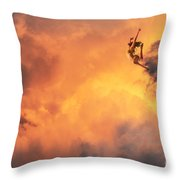 'jump Into The Fire' Throw Pillow