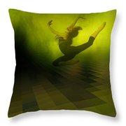 Jumping In Throw Pillow by Gun Legler