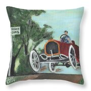 Jumping The Tracks Throw Pillow