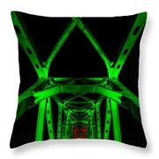 Junction Bridge Throw Pillow