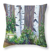 June Roses Throw Pillow