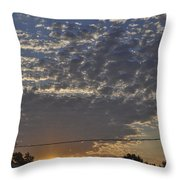 June Sunrise From The Series The Imprint Of Man In Nature Throw Pillow