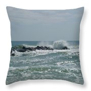 June Surf Throw Pillow