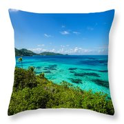 Jungle And Turquoise Water Throw Pillow