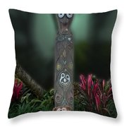 Jungle Bear 2 Throw Pillow