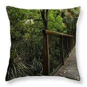 Jungle Bridge Throw Pillow
