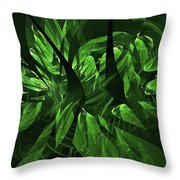 Jungle Clearing  Throw Pillow