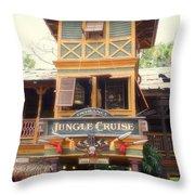 Jungle Cruise Adventureland Disneyland Throw Pillow