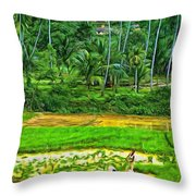 Jungle Homestead - Paint  Throw Pillow